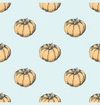 big ripe pumpkin in seamless pattern vector image vector image