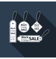 Black Friday sales tag flat icon with long shadow vector image vector image