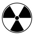 black radioactive sign over white background vector image