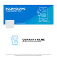 blue business logo template for certificate vector image
