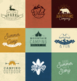 Camping Design Elements Badges and Labels vector image vector image