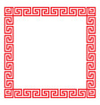 chinese decorative square frame vector image vector image