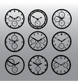 chronograph watch dials eps10 vector image vector image