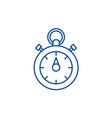 chronoscope line icon concept chronoscope flat vector image vector image