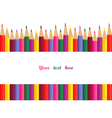 colored pencils with space for text vector image
