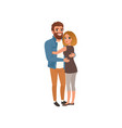 couple in love happy young man and woman vector image vector image