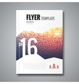 Cover report flyer template Snowfall blur design vector image