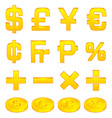 currency symbols vector image vector image