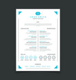 cv template professional resume design with vector image vector image