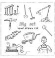 dig hand drawn doodle set vector image