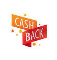 emblem cash back vector image