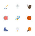 flat icons puck basket uniform and other vector image vector image