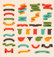 flat ribbons modern curly banners labels vector image