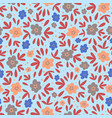 floral meadow nature textile print seamless patter vector image vector image