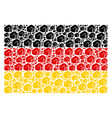 german flag collage of fist items vector image vector image