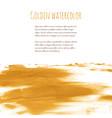 golden hand paint ink texture background vector image vector image