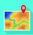 gps map pin icon flat style vector image vector image