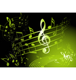 green music theme vector image vector image