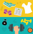 Gym digital design vector image vector image