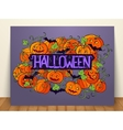 halloween abstract invitation card vector image