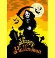 halloween theme with grim reaper vector image vector image
