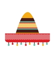 hat mexican culture icon vector image