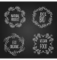 Herbal frames Floral frame vector image vector image