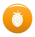 hop icon orange vector image