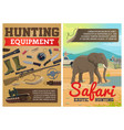 hunting ammo african safari animals vector image vector image