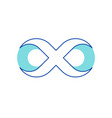 infinity symbol contour in shape number eight vector image