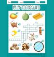 letter m crossword worksheet vector image