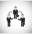 manager staff management on white background vector image vector image