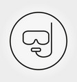 mask and snorkel for diving icon vector image vector image
