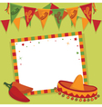 Mexican party card vector | Price: 1 Credit (USD $1)