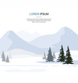 mountain winter landscape with fir trees vector image