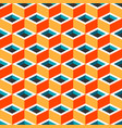 multicolor geometric cubic seamless pattern vector image vector image