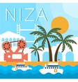 Niza Traditional Landscape vector image