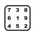 number theory vector image