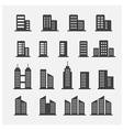 office building icon vector image vector image