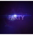 Party 3D Neon Sign vector image