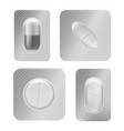 pill blister pack realistic medical tablet vector image