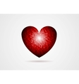 Polygonal red heart shape vector image