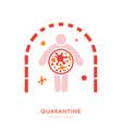 quarantine icon vector image vector image