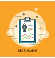 recruitment human resources and personnel vector image