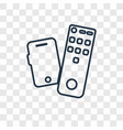 remote concept linear icon isolated on vector image