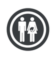 Round black young family sign vector image vector image