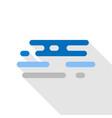 sea icon flat style vector image vector image