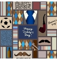 Seamless pattern of fathers day vector image