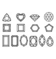set of diamonds precious stones of different vector image