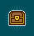 simple treasure chest icon vector image vector image